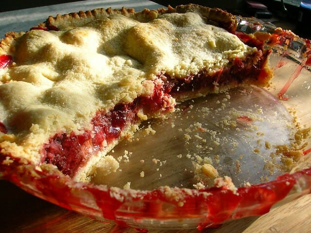 Cut Into A Rhubarb Pie!