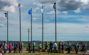 Crowds Line Up For Special Fondue at Tjaden Terrace, Medora, North Dakota