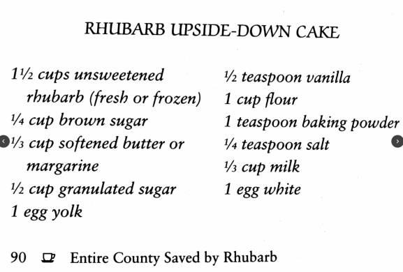 Rhubarb Upside-Down Cake, Prairie Cooks