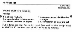 4-Fruit Pie, Cowboy Hall of Fame Cookbook
