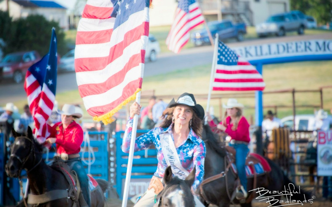 Real cowboys love America and respect the American flag