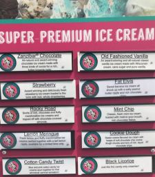 Flavors to be found at The Cold Stuff, Dickinson, North Dakota