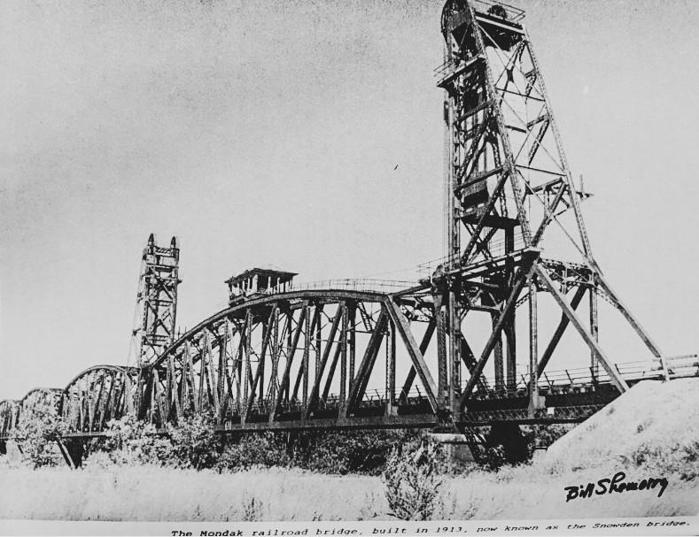 Snowden Bridge Over the Missouri River in eastern Montana.