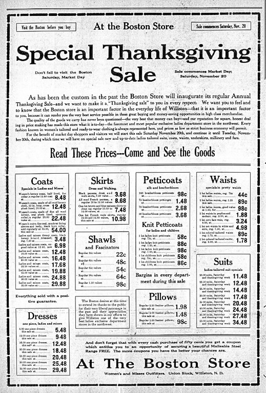 Williston Graphic, November 18, 1909