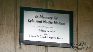 The Lewis and Clark Legacy Trails honor the memory of Lyle and Nettie Holtan, ranchers who once owned the land on which the Indian Hills Recreation Area was established.