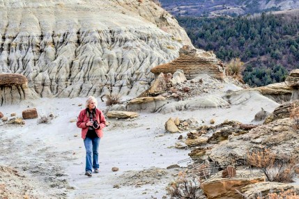 safe outdoor recreation with a camera in the Badlands