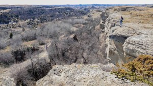At the Edge of the Bluff, Look Down! North Dakota Badlands