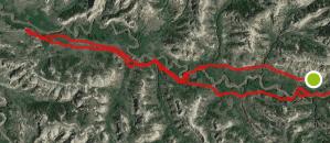bennett Creek terrain map