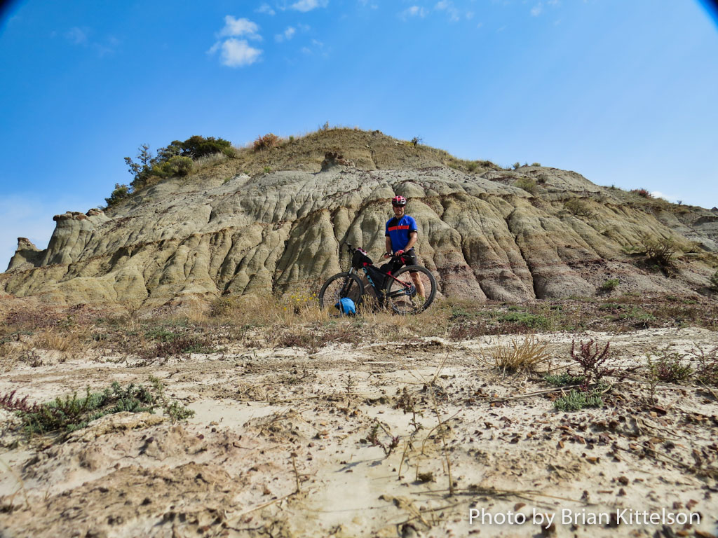 The distinctive landscape in the North Dakota Badlands is constantly forming through erosion.