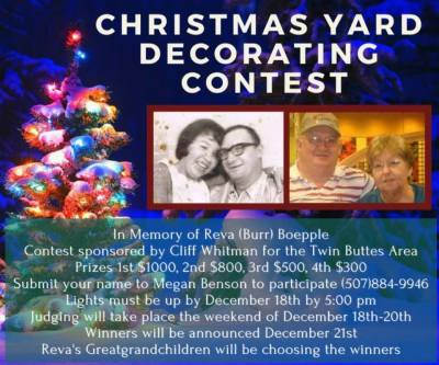 Christmas Decoration Contest in Twin Buttes, North Dakota