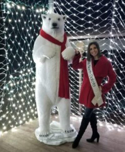 Miss North Dakota enjoying the Christmas Spirit at Spring Lake Drive in Williston, North Dakota  Photo from Facebook