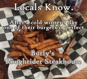 Locals Know Burlys burgers