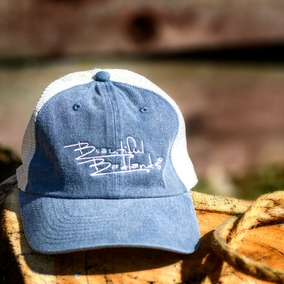 denim blue mesh trucker cap