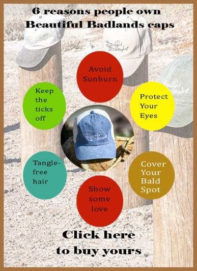6 reasons to buy a Beautiful Badlands cap.