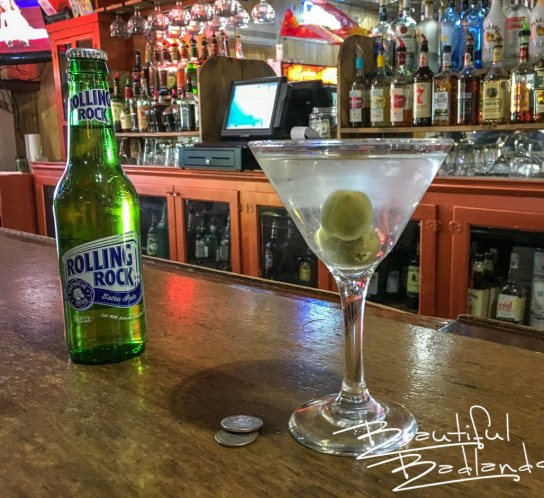 Cocktails and specialty beers at The Pipe in Killdeer, North Dakota