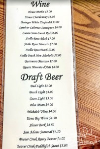 Wines and Draft Beer at Burly's Roughrider Bar & Steakhouse