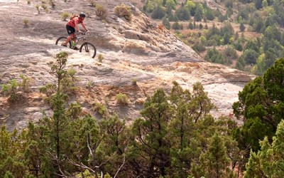 Crazy People Doing a Crazy Thing on Bicycles in the Badlands