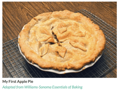 "Apple Pie, from food blogger Jeni Eats. Photo from her blog, ""Jeni Eats""."