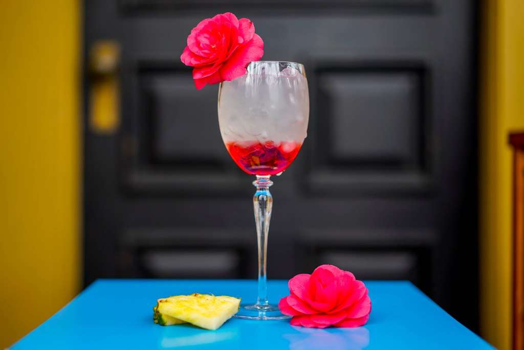 , Pineapple Grenadine Gimlet