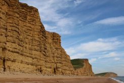East Cliff, Burton Freshwater and Burton Cliff, from beach, near West Bay