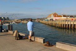 Fishing, from Jurassic Pier, West Bay, near Bridport