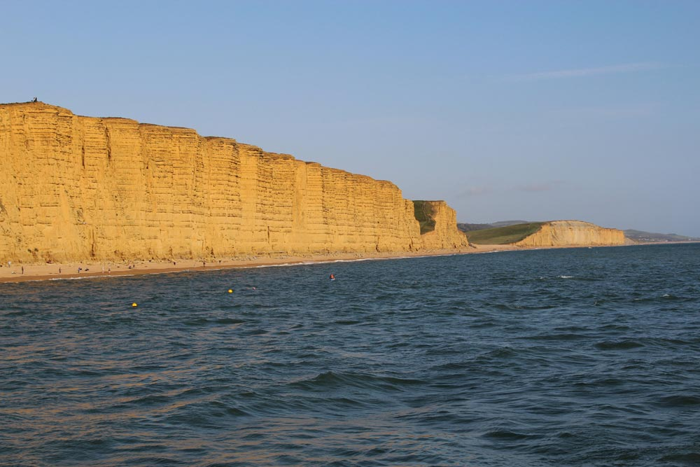 Jurassic Coast, East Cliff and Burton Cliff, from West Bay, near Bridport