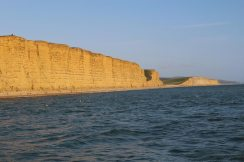 Jurassic Coast, East Cliff and Burton Cliff, from West Bay, near Bridport