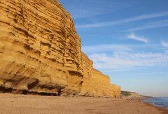Burton Cliff and Chesil Beach, between Hive Beach and Freshwater Beach, Burton Bradstock