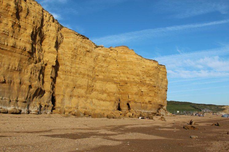 Burton Cliff and Hive Beach, Burton Bradstock
