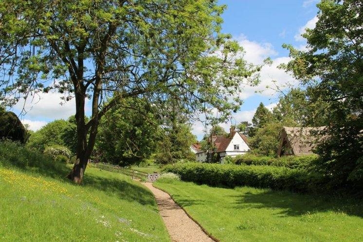 Churchyard path, St. Peter's Church, Benington
