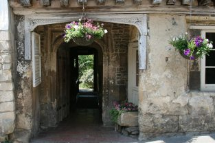 Entrance to At The Sign of The Angel, Lacock (originally the horse passage)
