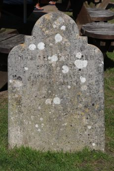 Gravestone of Michael Henchard, Mayor of Casterbridge, garden, Scott Arms, Kingston