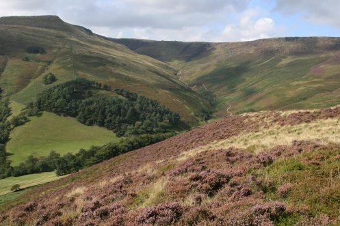 Grindsbrook Clough and Grindslow Knoll, from The Nab