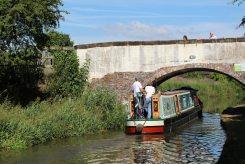 Narrow boat, Ryan's Bridge, Trent and Mersey Canal, Bartington