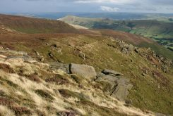 Ringing Roger and the Great Ridge, from Upper Tor, Kinder Plateau