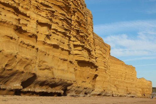Wave erosion, Burton Cliff, Burton Bradstock
