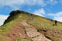 Path to summit, Corn Du, Brecon Beacons