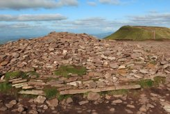 Cairn on summit of Corn Du, Brecon Beacons