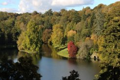 Boat House and Lake, from Temple of Apollo, Stourhead