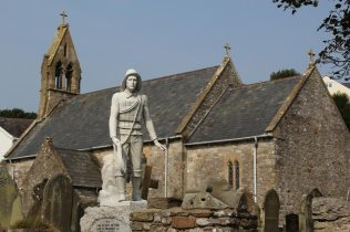 Lifeboat Memorial, St. Cattwg's Church, Port Eynon