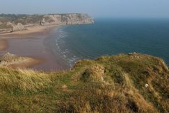 Shire Combe, from cliffs above Three Cliffs Bay, Gower