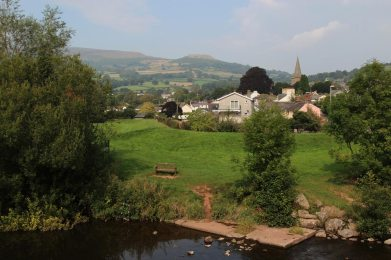 Table Mountain, from River Usk, Crickhowell