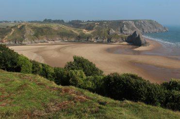 Three Cliffs Bay, from Penmaen Burrows, Gower