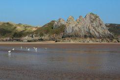 Three Cliffs rocks, Three Cliffs Bay, Gower