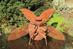 Beetle sculpture, by Ross White, Wakehurst Place, Ardingly