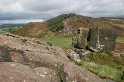 Gritstone boulders, Hen Cloud, The Roaches