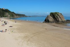 North Beach and Goskar Rock, Tenby