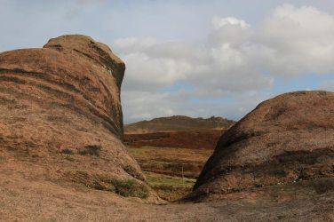 Ramshaw Rocks, from gritstone boulders, Hen Cloud, The Roaches
