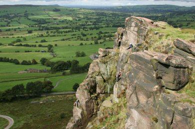 Rock climbing, Hen Cloud, The Roaches