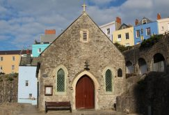 St. Julian's Church (Fisherman's Church) and Harbour Beach, Tenby